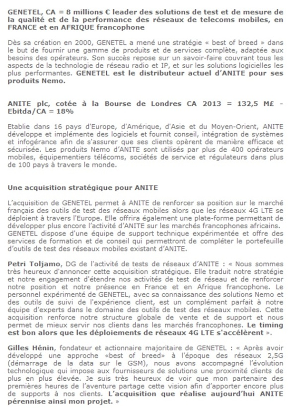 Article Génétel